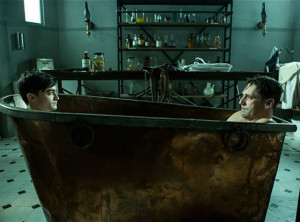 Hamm and Radcliffe bathing together in a young doctor's notebook